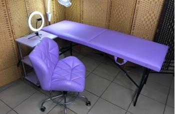 Кресло ракушка фиолетовый