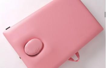 Массажный стол розовый