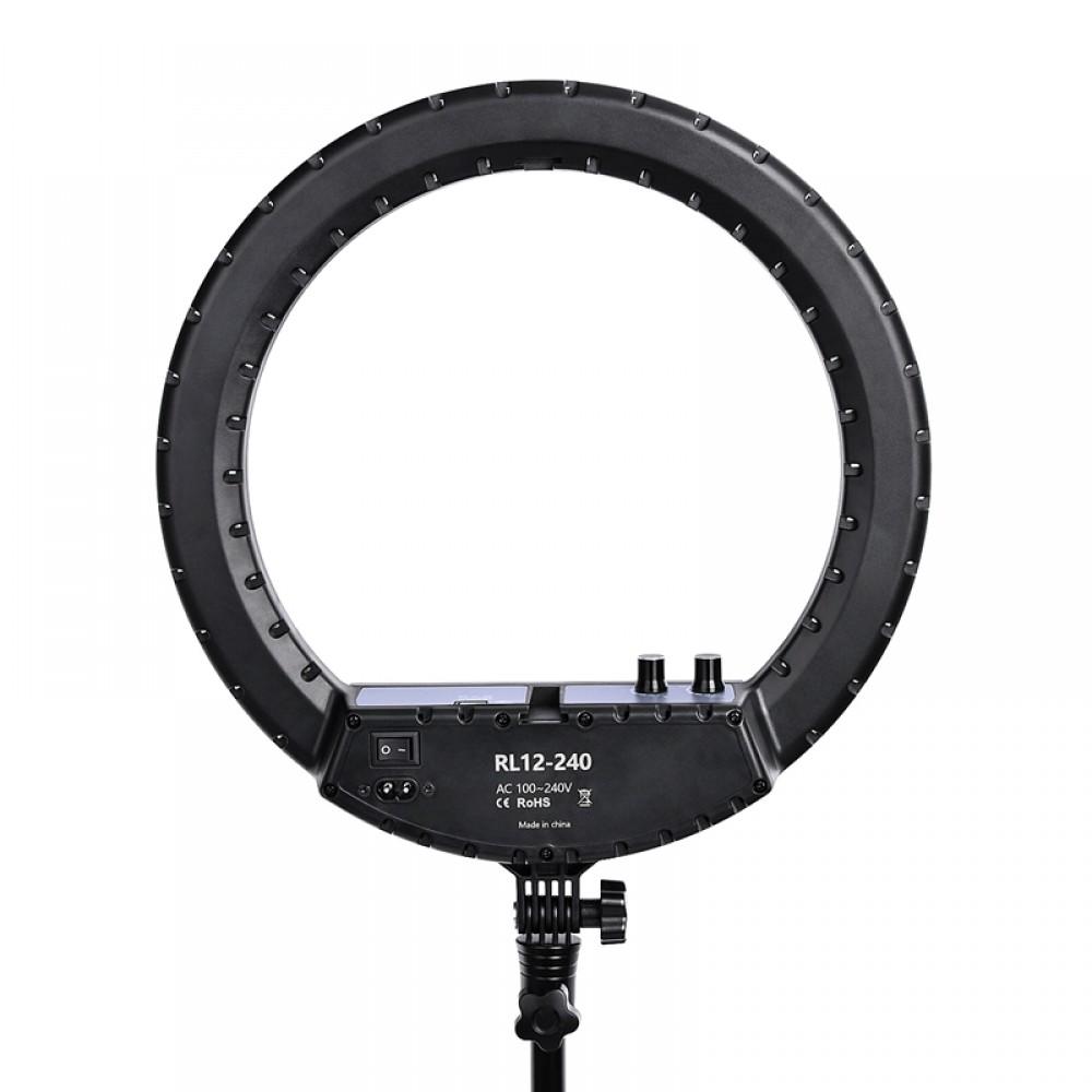 Кольцевая лампа RL-12-240 LED с USB + пульт