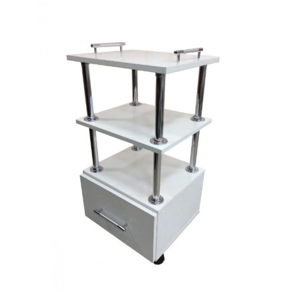 Тележка косметологическая с выдвижным ящиком на колесиках ТК-2